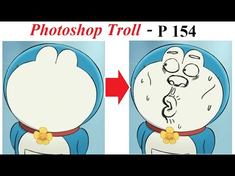 Ảnh Chế  💓 Photoshop Troll (P 154), Draw a face for Doraemon, James Fridman