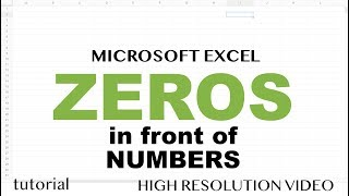 Zero in Front of Number in Excel & Google Sheets