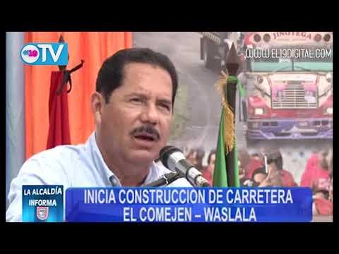 Inicio de construcción de la carretera a Waslala