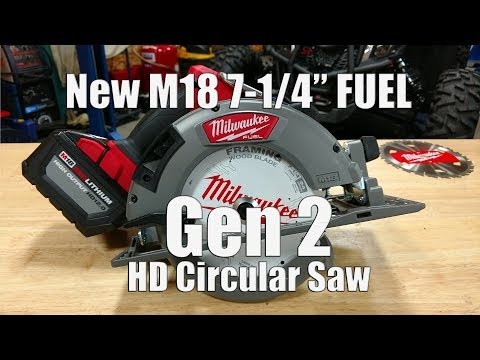 New GEN 2 Milwaukee M18 Fuel 7-1/4″ Circular Saw Review 12.0Ah Battery 2732-21HD Vs Dewalt Flexvolt