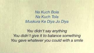 Rab Ne Bana Di Jodi - Tujh Mein Rab Dikhta Hai Lyrics & Translation