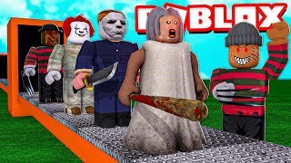 Building My Own Scary HORROR TYCOON in Roblox!