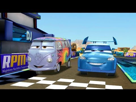 Fillmore Vs DJ & Francesco Bernoulli Disney Pixar Cars Racing Game Play