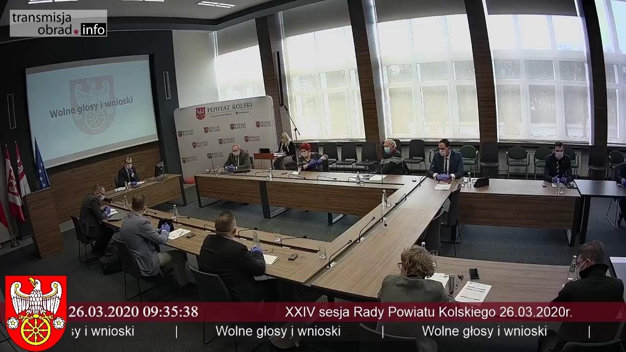 Zdjęcie do XXIV sesja Rady Powiatu Kolskiego