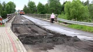 Zamknięty most w Jedliczu