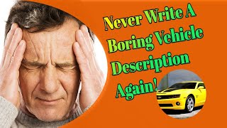 Car Salesman | How To Write Descriptions that Sell More Cars