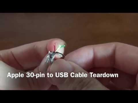 Apple 30 pin to USB Cable Teardown