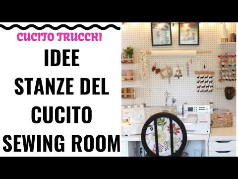 IDEE STANZE CUCITO | organizzazione • Sewing Room Ideas