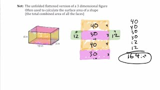 3D Figure (Prism and Pyramid) vocabulary, Making Nets, and Calculating Surface Area