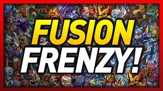 Knights and Dragons - FUSING TONS OF SHADOWFORGED ARMORS!! HUGE FUSION FRENZY!