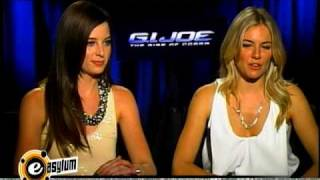 Сиенна Миллер, GI Joe Interview - Rachel Nichols & Sienna Miller