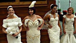 Лучшее свадебное платье из туалетной бумаги выбрали в Нью-Йорке (новости)