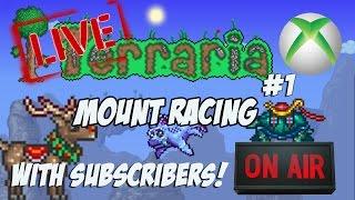 Terraria 1.2.4 Xbox - MOUNT RACING! W/ Subscribers #1 [Xbox 360]