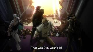 [HD] ジョジョ • JoJo: Stardust Crusaders - DIO reveals his stand for the first time