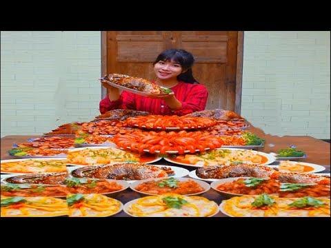 #大胃王 全村第一吃貨消滅一桌九大碗