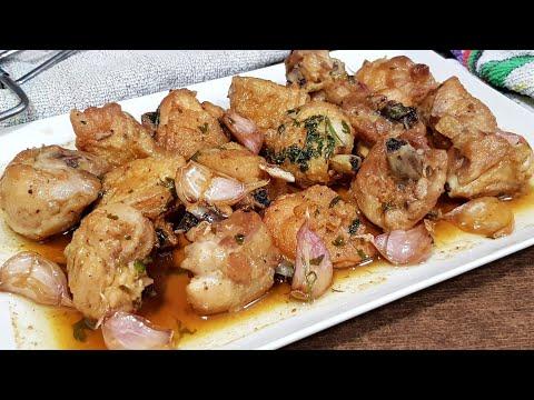 Pollo al ajillo,la receta mas fácil y con mas sabor del mundo