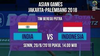 Live Streaming Badminton Asian Games 2018, Tim Putra Indonesia Vs India Pukul 14.00 WIB