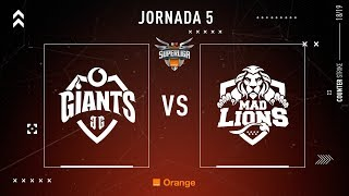 Vodafone Giants VS MAD Lions E.C. | Jornada 5 | Temporada 2018/2019