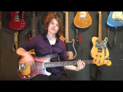First Bass Guitar Lesson - Ricky Horton ( Absolute Beginners )