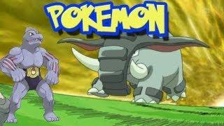 Donphan  - (Pokémon) - Pokemon Multiplayer - Donphan e Machoke, batalha violenta. (49)