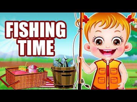 Video of Baby Hazel Fishing Time