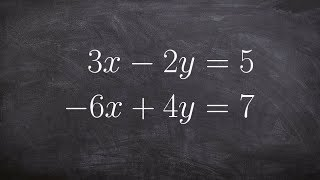 How to Determine When a System of Equation Has no Solution by Elimination