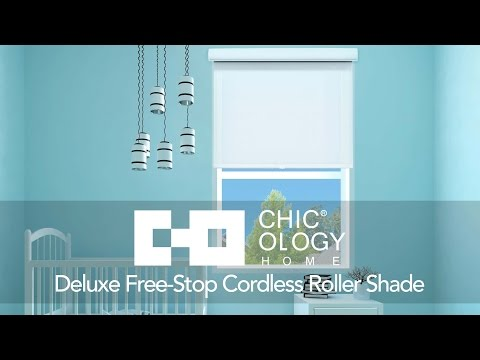 Video for Felton Truffle 29-Inch x 72-Inch Deluxe Free-Stop Cordless Roller Shade