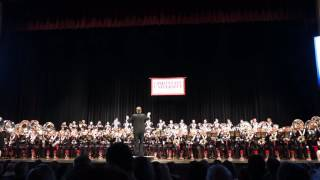 Ohio State Marching The Navy Hymn at Band Concert 11 10 2016