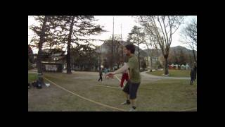 preview picture of video 'bolzano slackline jumpline tricks'