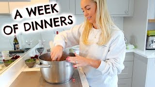 A WEEK OF FAMILY DINNERS  |  DINNER INSPO & WHAT I EAT  |  EMILY NORRIS