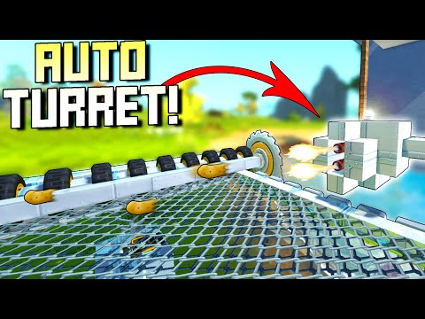 I Finally Installed Auto Spud Turrets to Defend My Base!  - Scrap Mechanic Survival Mode [SMS 55]