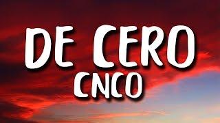 CNCO   De Cero (LetraLyrics)