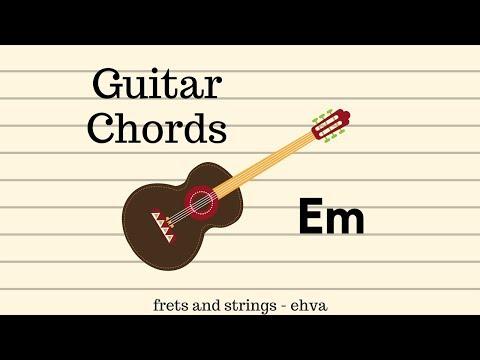 Beginner Guitar Chords ~ Em | frets & strings