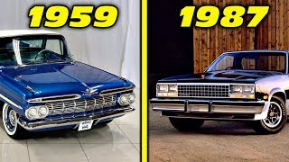 Chevrolet El Camino History / Evolution (1959 - 1987) [4K]