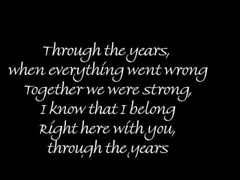 Through The Years by Kenny Rogers w / Lyrics