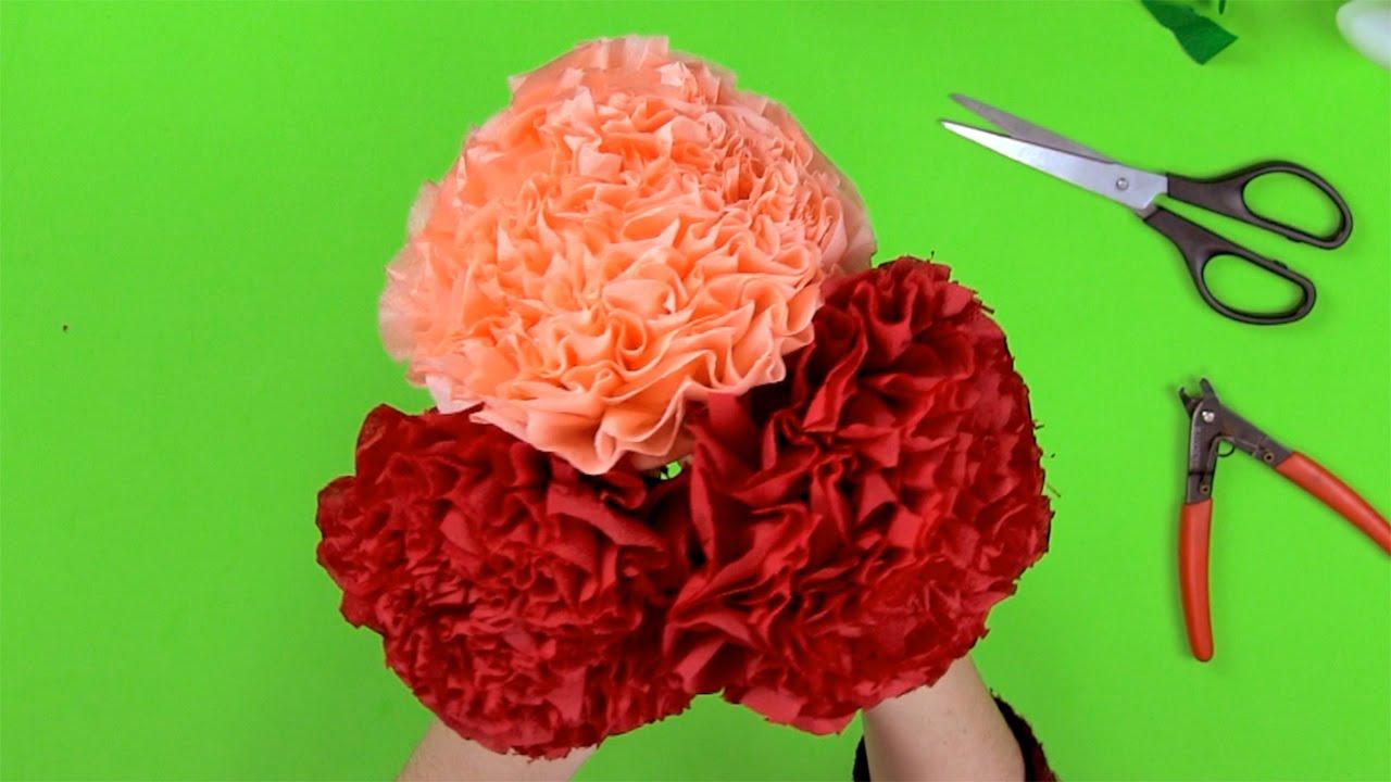 Cómo hacer un ramo de flores con servilletas de papel