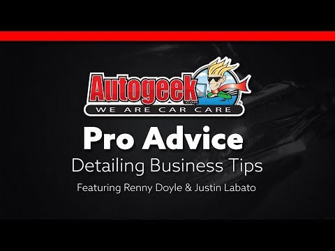 Advice from the Pros - Detailing Business Tips