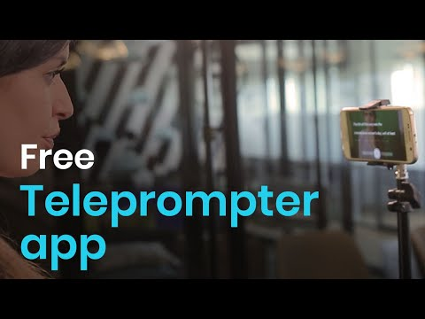 Vídeo do Teleprompter Video Creator