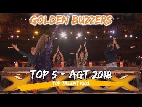Americas Got Talent AGT Top 5 Kids Golden Buzzers 2018