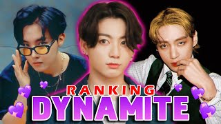BTS Ranking in DYNAMITE - (Lines, Visual, Presence & More)