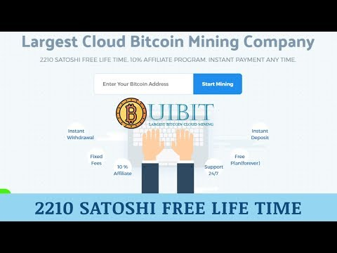 Uibit.io отзывы 2019, mmgp, обзор, Bitcoin Cloud Mining, get 2210 satoshi free lifetime
