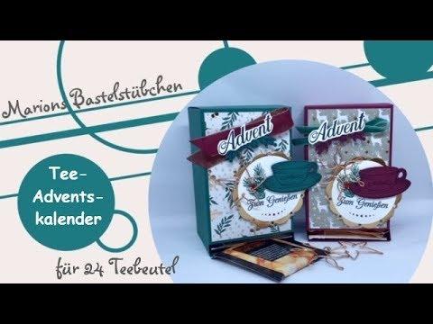 """Tee-Adventskalender für 24 Teebeutel mit """"Teezeit"""" und """"Besinnlicher Advent"""" von Stampin´ Up!"""