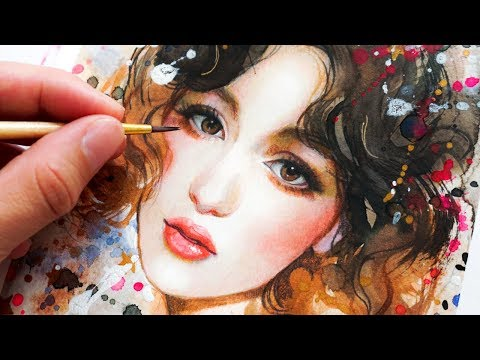 HOW TO PAINT A PORTRAIT WITH WATERCOLORS & COLOR PENCILS IN ONLY 5 STEPS!