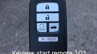 Honda smart entry with push button start.  Some of the basic features. | Kholo.pk