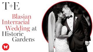 T + E Blasian Multicultural Wedding At Old Westbury Gardens