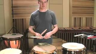 Concert Snare 4: Stick Selection & Characteristic Sound / Vic Firth Percussion 101