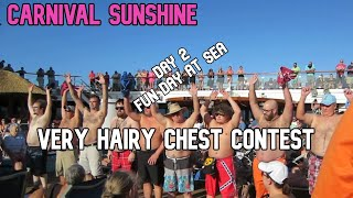 Carnival Sunshine Cruise Vlog 2020 - Day 2 Very Hairy Chest Contest