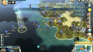 preview picture of video 'Let's play Civ 5 (Gods&Kings) - Harder Siamese Twins - Part 15'