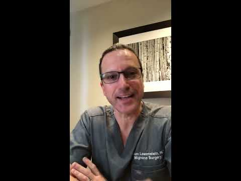Dr. Lowenstein discusses Success Rates of Migraine Surgery & After Surgery