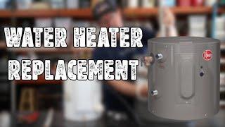 Rheem 6 Gallon Water Heater Unboxing & Install